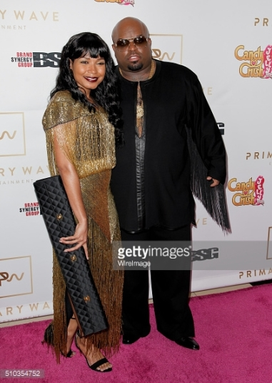 Knowstylegia and Ceelo at Primary Wave Pre-Grammy Party 2016